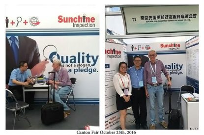 Sunchine Inspection At The Second Phase Of The 120th Canton Fair