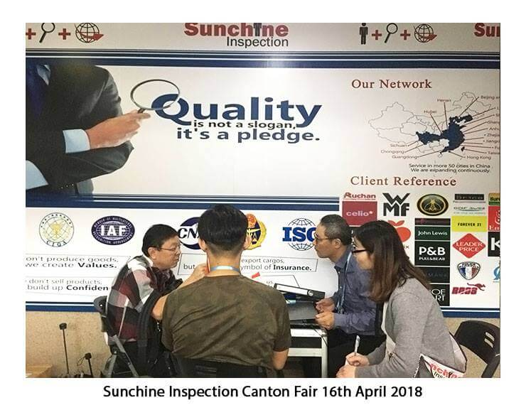 Many Thanks To The Visitors Who Came Today At Sunchine Inspection Booth – Apr 16, 2018